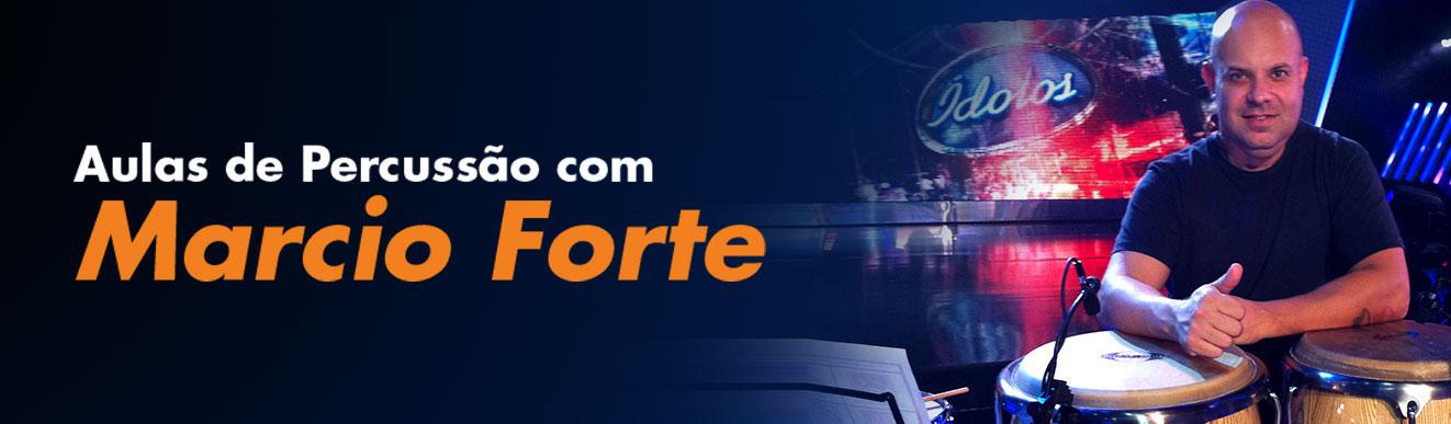 AULAS DE PERCUSSÃO COM MARCIO FORTE